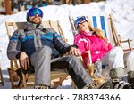 smiling couple on break from... | Shutterstock . vector #788374366