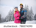 smiling couple happy together... | Shutterstock . vector #788374390