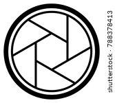 camera shutter icon symbol and... | Shutterstock .eps vector #788378413