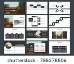 black grey bundle infographic... | Shutterstock .eps vector #788378806