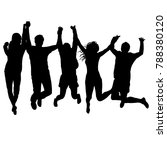 men and women holding their... | Shutterstock . vector #788380120