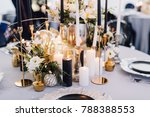 closeup of reception table... | Shutterstock . vector #788388553
