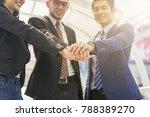 team teamwork join hands... | Shutterstock . vector #788389270