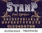 font alphabet script typeface... | Shutterstock .eps vector #788394430