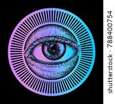 all seeing eye art vector.... | Shutterstock .eps vector #788400754