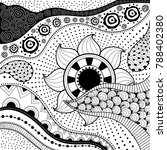 hand drawn ethno pattern ... | Shutterstock .eps vector #788402380