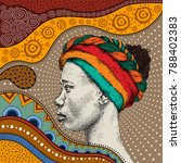 girl in turban with african... | Shutterstock .eps vector #788402383