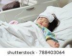 little kid is sleeping at the... | Shutterstock . vector #788403064