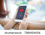 mobile health care application... | Shutterstock . vector #788404456