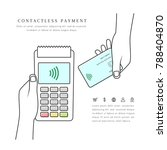 contactless payment with pos...   Shutterstock .eps vector #788404870