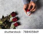 valentines day romantic man...   Shutterstock . vector #788405869