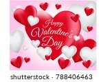 red and white romantic... | Shutterstock .eps vector #788406463
