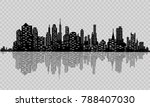 the silhouette of the city in a ... | Shutterstock .eps vector #788407030