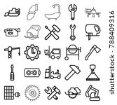 industry icons. set of 25... | Shutterstock .eps vector #788409316