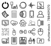 computer icons. set of 25... | Shutterstock .eps vector #788409370