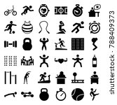 training icons. set of 36... | Shutterstock .eps vector #788409373