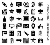 board icons. set of 36 editable ... | Shutterstock .eps vector #788409580