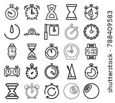 timer icons. set of 25 editable ... | Shutterstock .eps vector #788409583