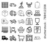 delivery icons. set of 25... | Shutterstock .eps vector #788412208