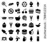 delicious icons. set of 36... | Shutterstock .eps vector #788412214
