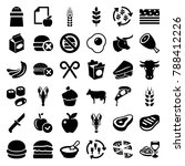 eat icons. set of 36 editable... | Shutterstock .eps vector #788412226