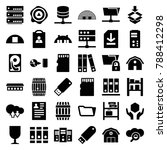 storage icons. set of 36... | Shutterstock .eps vector #788412298