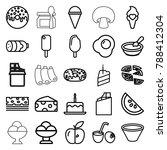 tasty icons. set of 25 editable ... | Shutterstock .eps vector #788412304
