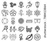 flower icons. set of 25... | Shutterstock .eps vector #788413864