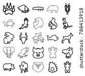 wildlife icons. set of 25... | Shutterstock .eps vector #788413918