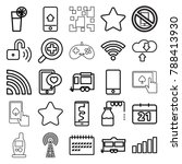 mobile icons. set of 25...   Shutterstock .eps vector #788413930