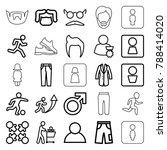 men icons. set of 25 editable... | Shutterstock .eps vector #788414020