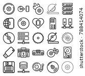 disk icons. set of 25 editable... | Shutterstock .eps vector #788414074