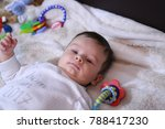 2 months old lovely baby... | Shutterstock . vector #788417230