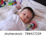 2 months old lovely baby... | Shutterstock . vector #788417239