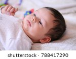 2 months old lovely baby... | Shutterstock . vector #788417290