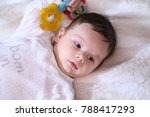 2 months old lovely baby... | Shutterstock . vector #788417293