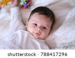 2 months old lovely baby... | Shutterstock . vector #788417296