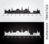copenhagen skyline and...   Shutterstock .eps vector #788417626