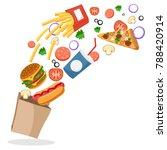 hotdog  burger  french fries ... | Shutterstock .eps vector #788420914