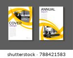layout abstract yellow and... | Shutterstock .eps vector #788421583
