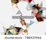 abstract mesh background with... | Shutterstock .eps vector #788425966