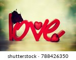 flowers with word love | Shutterstock . vector #788426350