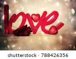 flowers with word love | Shutterstock . vector #788426356