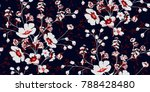 seamless floral pattern in... | Shutterstock .eps vector #788428480