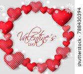 happy valentine's day card... | Shutterstock .eps vector #788430394