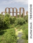 Small photo of Roman Aqueduct of the Miracles in Merida, Extremadura, Spain