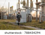 the energy engineer inspects... | Shutterstock . vector #788434294
