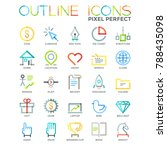 collection of bright colored... | Shutterstock .eps vector #788435098