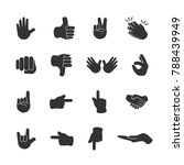 vector image of set of hand... | Shutterstock .eps vector #788439949