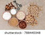vegan health food with nuts ... | Shutterstock . vector #788440348